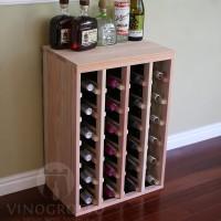 VINOGROTTO-DTT-24-R - 24 Bottle Table Rack in Redwood Showcase