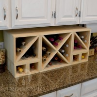 VINOGROTTO-MCWC-28-P - 28 Bottle Countertop Cube Set Pine Showcase