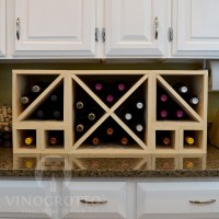 VINOGROTTO-MCWC-28-P - 28 Bottle Countertop Cube Set Pine
