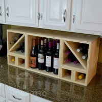 VINOGROTTO-MCWC-28C-P - 28 Bottle Countertop Cube Set with Cubby Pine Showcase