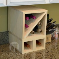 VINOGROTTO-MCWC-8-P - 8 Bottle Countertop Cube Set - Pine Showcase
