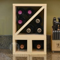 VINOGROTTO-MCWC-8-P - 8 Bottle Countertop Cube Set - Pine