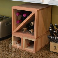 VINOGROTTO-MCWC-8-R - 8 Bottle Countertop Cube Set - Redwood Showcase