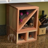 VINOGROTTO-MCWC-8-R - 8 Bottle Countertop Cube Set - Redwood