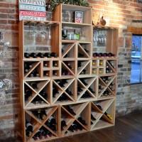 VINOGROTTO-WCMC-222-R - 222 Bottle Wine Cube Wall Set - Winter Premium Redwood Showcase