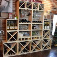 VINOGROTTO-WCMC-268-P - 268 Bottle Wine Cube Wall Set - Winter Pine Showcase