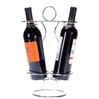 2 bottle holding sculpture wine rack.