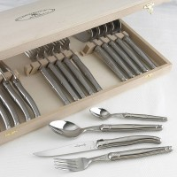 Jean Dubost Laguiole 24-Piece Flatware Set (Stainless Steel)