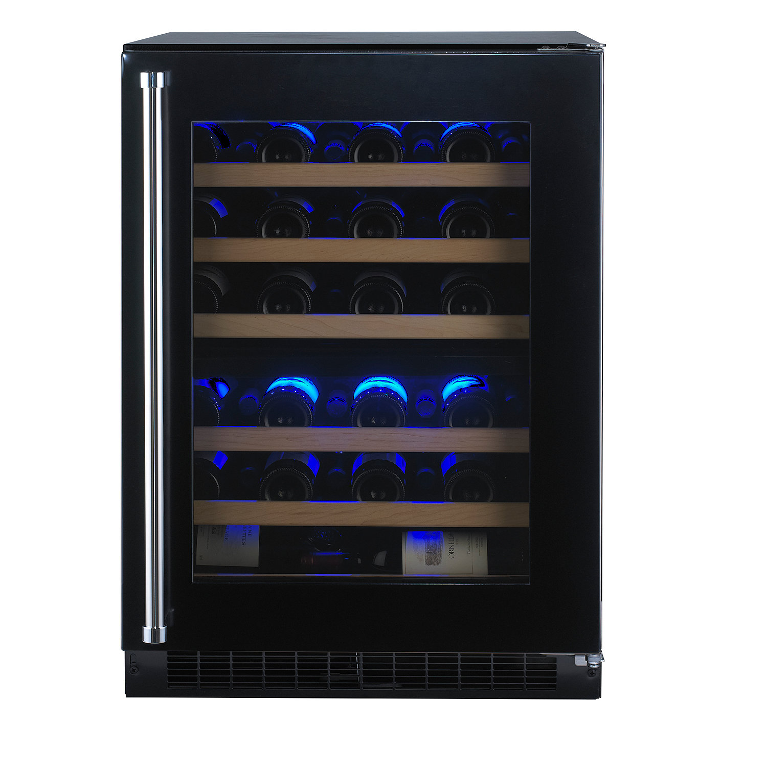 44 Bottle Dual Zone Wine Cooler Double Storage Ottoman Bench Wine Coolers 100 Cuisinart Wine