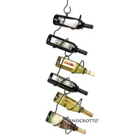6 Bottle Climbing Tendril Wine Rack - Black