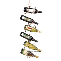 6 Bottle Climbing Tendril Wine Rack - Copper