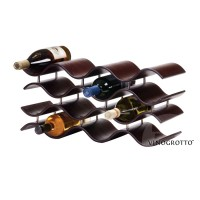 Bali 12 Bottle Wave Wine Rack - Ebony