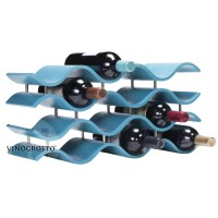 Bali 12 Bottle Wave Wine Rack - Aquamarine