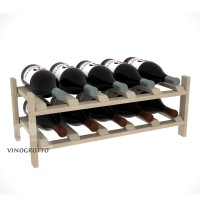 10 Bottle Modular Wine Shelf for Magnum Bottles - Pine Showcase