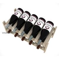 10 Bottle Modular Wine Shelf for Magnum Bottles - Pine