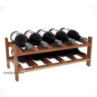 10 Bottle Modular Wine Shelf for Magnum Bottles - Redwood Showcase