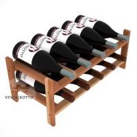10 Bottle Modular Wine Shelf for Magnum Bottles - Redwood Detail