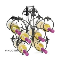 French Countertop 6 Bottle Decorative Wine Rack