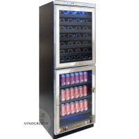 Vinotemp VT-100 Mirrored Touch Screen Wine and Beverage Center