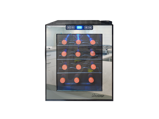 Vinotemp 12-Bottle Mirrored Thermoelectric Wine Cooler
