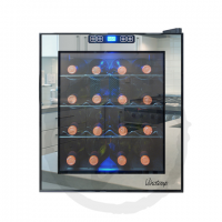 Vinotemp 16-Bottle Mirrored Thermoelectric Wine Cooler