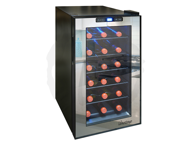 Vinotemp 18-Bottle Mirrored Thermoelectric Wine Cooler