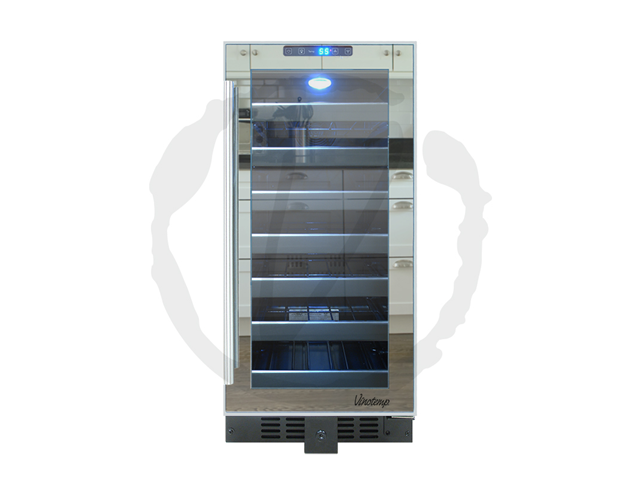 33-Bottle Touch Screen Mirrored Wine Cooler