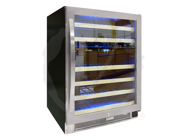 Vinotemp 46-Bottle Dual-Zone Connoisseur Series Wine Cooler (Stainless)