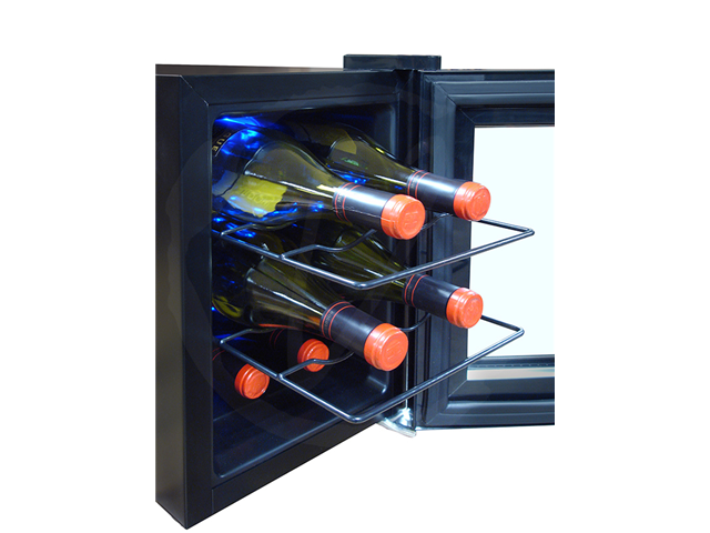 Vinotemp 6-Bottle Mirrored Thermoelectric Wine Cooler