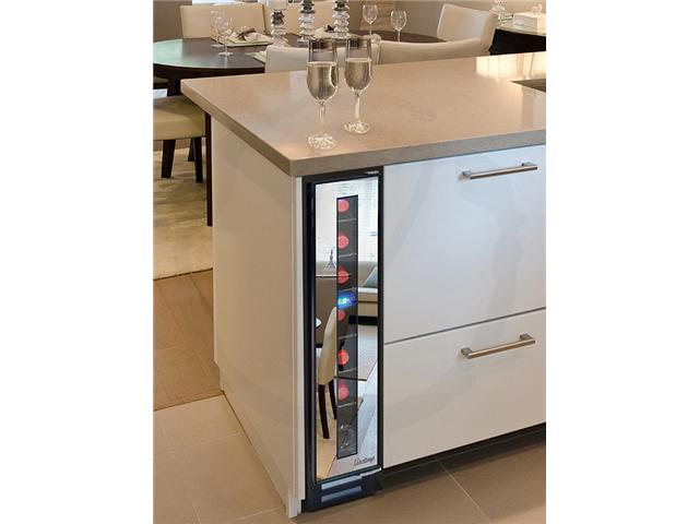 7 Bottle Slim Mirrored Under Cabinet Wine Cooler