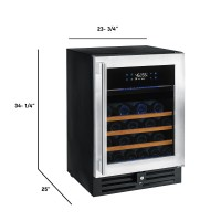 N'FINITY PRO HDX 46 Dual Zone Wine Cellar (Stainless Steel Door)