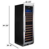 N'FINITY PRO HDX 166 Dual Zone Wine Cellar (Stainless Steel Door)