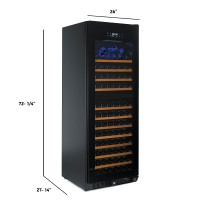 N'FINITY PRO HDX 187 Dual Zone Wine Cellar (Full Glass Door)
