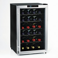 Wine Enthusiast Silent 28 Bottle Wine Refrigerator (Stainless Steel Trim)
