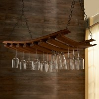 Barrel Stave Hanging Stemware Rack