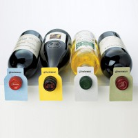 Wine Enthusiast 100 Color Coded Wine Bottle Tags (Disposable)