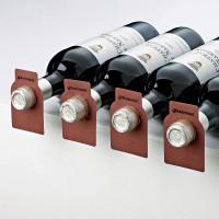 Wine Enthusiast 100 Wood Tone Wine Bottle Tags (Paper) - Mahogany Showcase