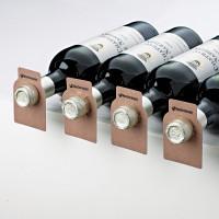 Wine Enthusiast 100 Wood Tone Wine Bottle Tags (Paper) - Dark-Walnut Showcase