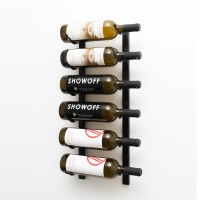 Vintage View WS21 - 6 Bottle Wine Rack - Satin-Black Showcase