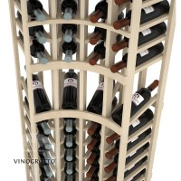 Professional Series - 6 Foot - Curved Corner Display Rack - Pine Detail