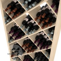 Professional Series - 6 Foot - Solid Diamond Wine Bin - Pine Detail