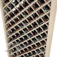Professional Series - 6 Foot - Individual Diamond Wine Bin - Pine Detail