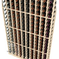 Professional Series - 6 Foot - 10 Column Cellar Rack - Pine Detail