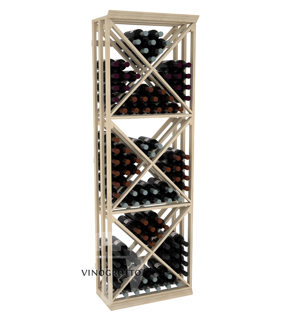 Professional Series - 6 Foot - Lattice X-Cube Storage Rack - Pine Showcase