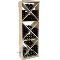 Professional Series - 6 Foot - Solid X-Cube Storage Rack - Pine Showcase