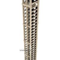 Professional Series - 7 Foot - 2 Column Split Bottle Rack - Pine Detail