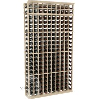 Professional Series - 7 Foot - 10 Column Cellar Rack - Pine Showcase