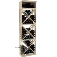 Professional Series - 7 Foot - Lattice X-Cube Storage Rack - Pine Showcase