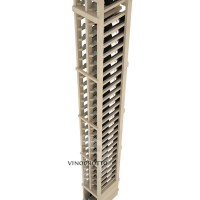 Professional Series - 8 Foot - 2 Column Split Bottle Rack - Pine Detail