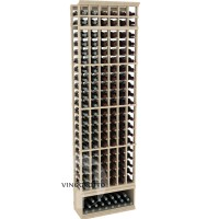 Professional Series - 8 Foot - 6 Column Cellar Rack - Pine Showcase
